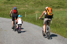 Mountainbiker-Familie